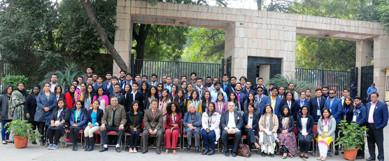 Participants of the 39th & 40th Know India Programme at FSI, during their visit on 18 January 2017