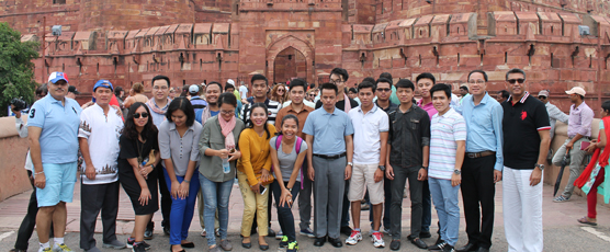 A visit to the Agra Fort on 20 Aug 2017 by the participants of the 11th Special Course for ASEAN Diplomats (9th Aug - 8th Sep 2017)