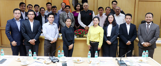 Visit of participants of the 11th Special Course for ASEAN Diplomats to the premises of the Election Commission of India on 24th Aug 2017.
