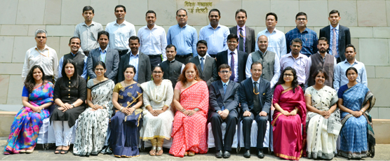 Participants of the Mid Career Training Programme - I (21st Aug - 1st Sep 2017), pose with the FSI Staff