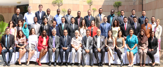 Participants of the 64th Professional Course for Foreign Diplomats (27 Sep 2017 to 27 Oct 2017) pose with the Guest Speakers and FSI Staff - 29th Sep 2017