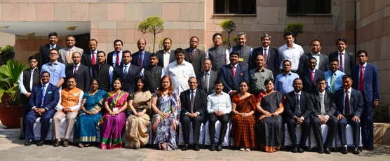 Group Photograph of IFS Officers of 2001 and 2002 batches with Dean FSI during MCTP-II.