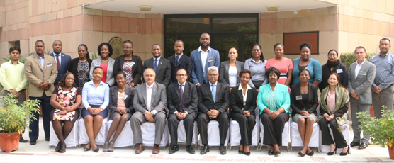 Participants of the Special Course for CARICOM Diplomats with the FSI Staff, on the inaugural day of the course (13 - 24 November 2017)