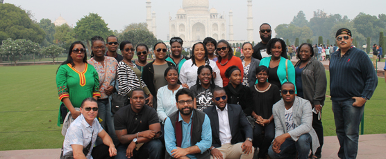 Participants of the Special Course for CARICOM Diplomats (13-24 Nov 2017) visit The Taj on 18 Nov 2017.