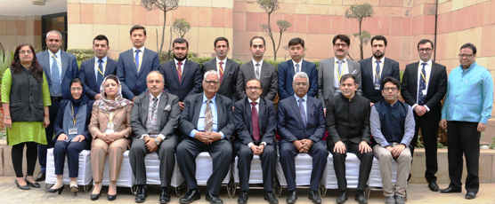 Amb Amitava Tripathi, Guest Speaker and FSI Staff with the Participants of the 1st Special Course for Afghan Diplomats (Consular) (11th to 22nd December 2017)