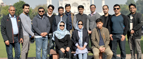 Visit of the diplomats from the 1st Special Course for Afghan Diplomats (Consular) to Taj on 16 Dec 2017