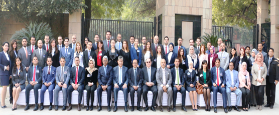 Participants of the 1st Special Course for Iraqi & Syrian Diplomats (15-25 Jan 2018) on the inaugural day at FSI.