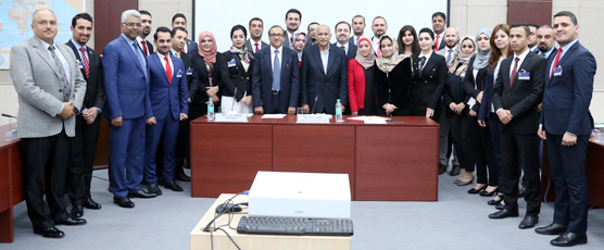 Minister of State for External Affairs, Shri MJ Akbar alongwith the Iraqi Diplomats of the 1st Special Course for Iraqi & Syrian Diplomats at FSI on Friday, 19 January 2018