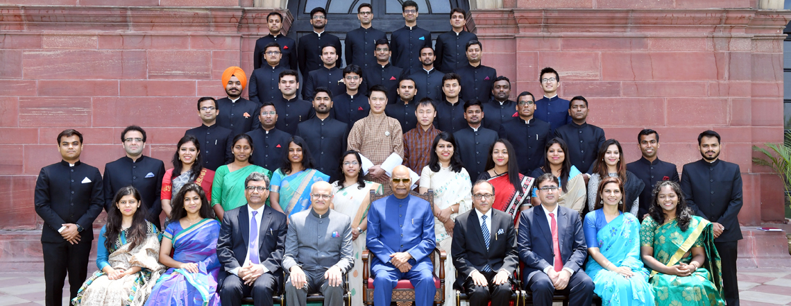Call on President by  IFS OTs 2018 Batch