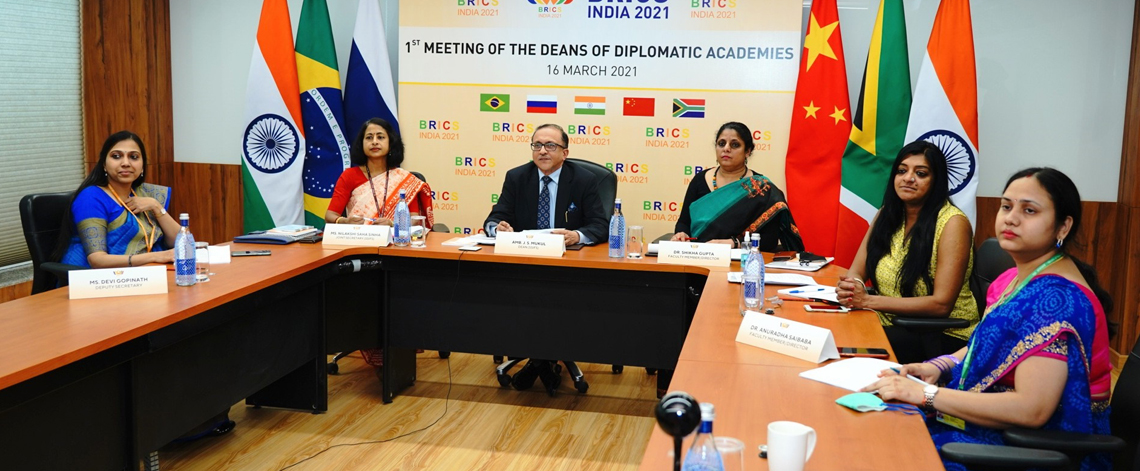 First Meeting of the Deans of Diplomatic Academies  of BRICS Countries on 16 March 2021