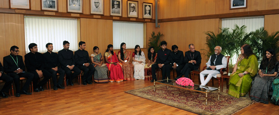 Call on Hon'ble Vice President of India by the IFS Officer Trainees of 2015 Batch