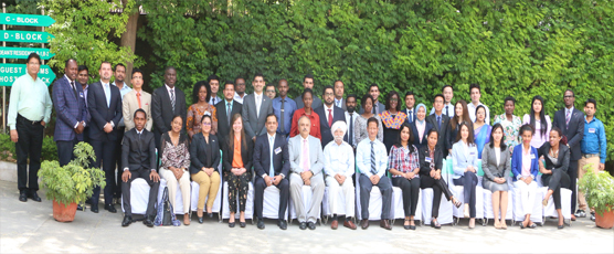 Participants of the 63rd Professional Course for Foreign Diplomats, 29th March to 28th April 2017, pose with the FSI staff.