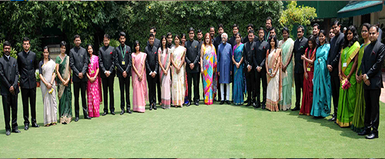 Call on Honble Vice President of India by the Indian Foreign Service Officer Trainees of 2016 batch